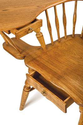 Ash writing chair with elm saddle (PHOTOGRAPHS COURTESY OF GREG MORRIS)