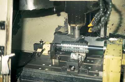 Turned and finished blocks on a CNC lathe
