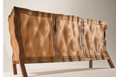 Volumptuous was made using 3D veneers fumed oak and cedar
