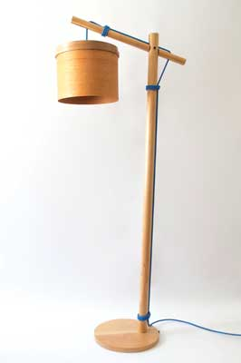 Arturo Lamp, turned lenga wood