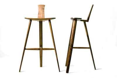 Tage Frid-inspired three-legged stool by Nigel Whitton - Designroom (PHOTOGRAPH COURTESY OF NIGEL WHITTON - DESIGNROOM)