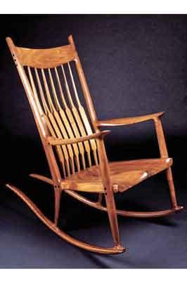Sam Maloof rocking chair (PHOTOGRAPH COURTESY OF WWW.SCRGEEK.COM)