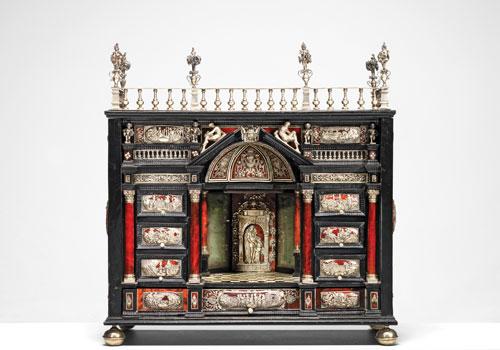 Augsburg 17th-century ebony cabinet (PHOTOGRAPH COURTESY OF BONHAMS)