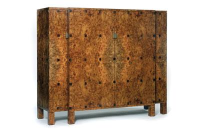 Burr elm cabinet