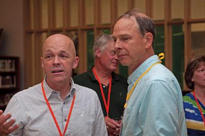 Judges Ron Barter and Garrett Hack