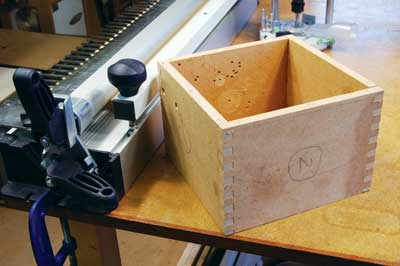 A rough MDF box