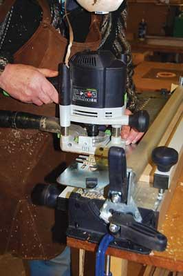 The Festool VS 600 dovetail jig in use