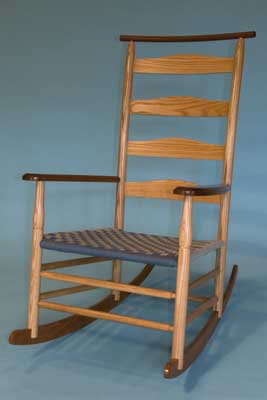 Rocking chair by 2008 BA Furniture graduate Soren Stenevad (PHOTOGRAPH BY RICHARD JONES)