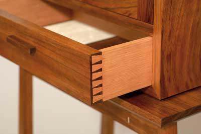 Detail from drawer of desk made by John Gabler (Photograph by John Gabler)