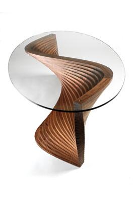 Sidewinder table by David Tragen in American black walnut