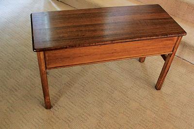 Victorian ash piano bench (PHOTOGRAPH COURTESY OF LORRAINE WARNER)