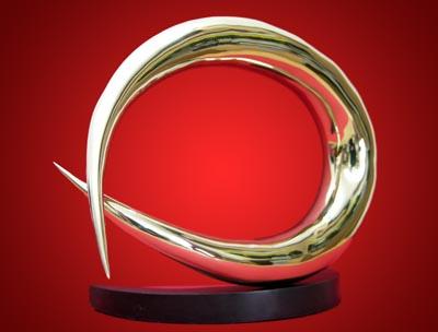 Wave. Polished bronze