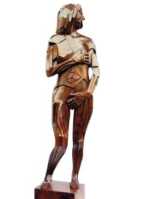 Female Nude. American black walnut