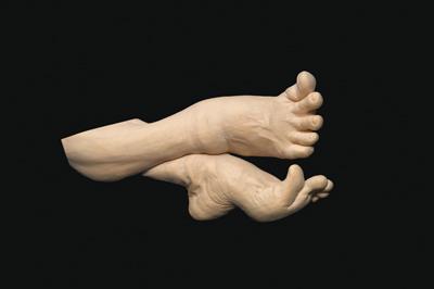 A Dancers Feet, 2011, lime, 330mm long