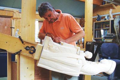 Michael working in his workshop