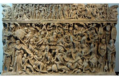 The Portonaccio sarcophagus has a multitude of detailed carvings