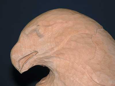 Refining the shape of the open beak...