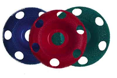 Coarse, medium and fine discs