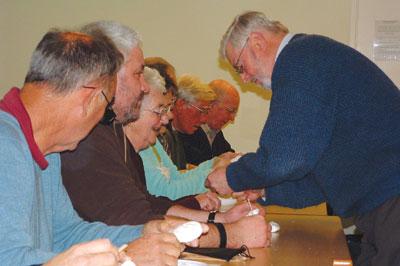 Alan Mechin teaches soap carving