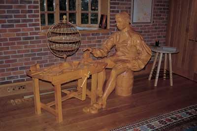 Longitude - the sculpture depicting John Harrison at his workbench (PHOTOGRAPH BY FELIX DENNIS)
