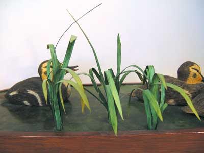 Water plants in Copper Sheet, with Mallard Ducklings, by Brian Weaving