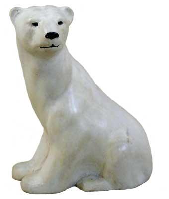 The finished polar bear