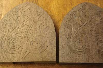 Stippling is not a necessary technique on mezzo-relievo or alto-relievo carvings