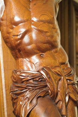 Close-up detail of Crucifix I