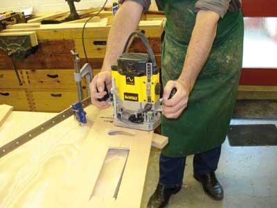 Cutting decorative holes in facia