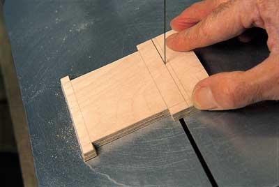 Cutting bevels on rear bulkhead