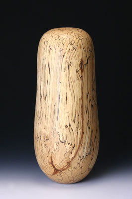 David Ellsworth, Beech Pot - Tall, 2007, 460mm (18in) high x 125mm (5in) dia. spalted English beech (Fagus sylvatica)